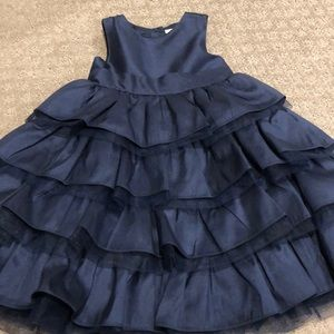 Janie and Jack blue organza formal dress